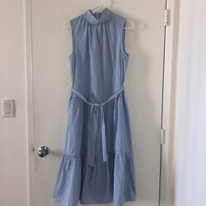 Sleeveless, High Neck Dress
